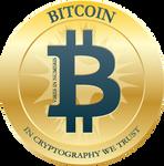 Bitcoin Flat Blue