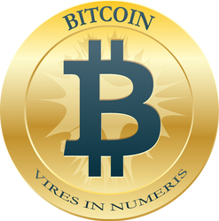 Bitcoin Coin Blue Vires (300 DPI) by carbonism