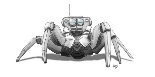 Spider Robot by carbonism
