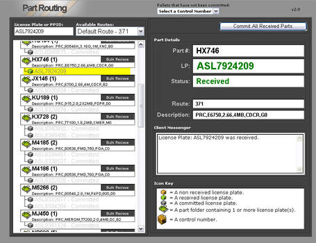 Part Routing UI