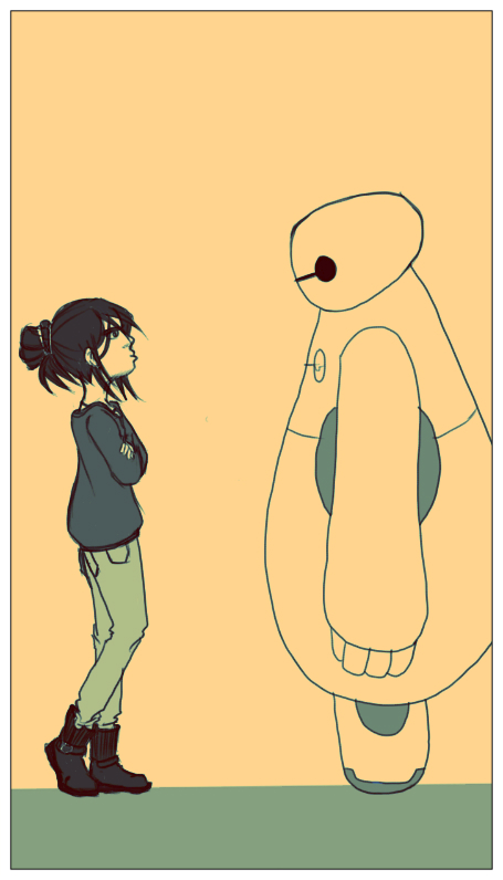 Baymax Staredown by moonstone8959