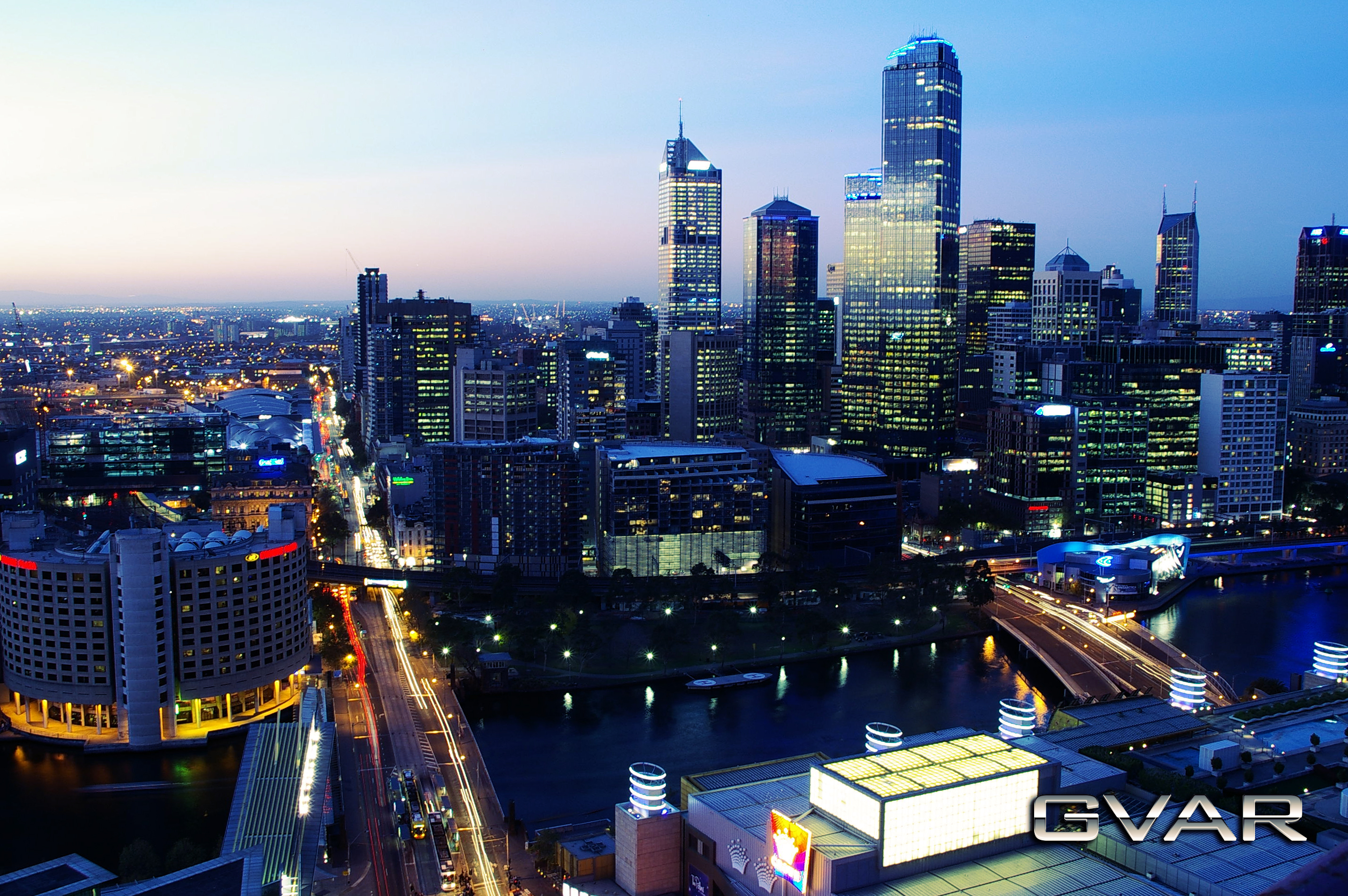Melbourne Skyline by SuperSprayer