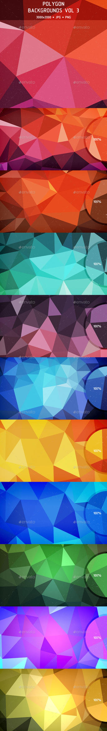 Polygon Backgrounds Vol 3 (Preview) by Cooltype-GR
