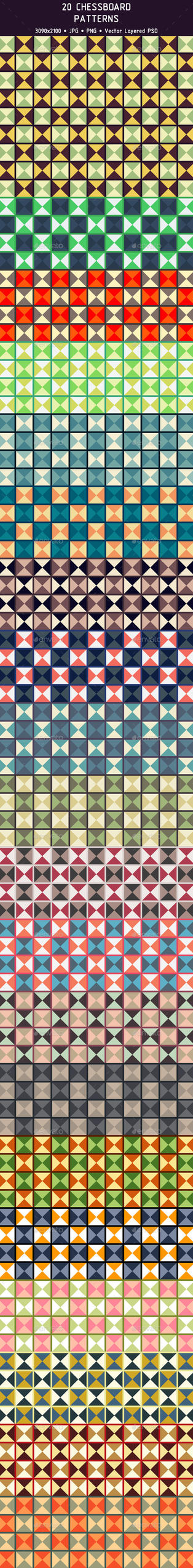 20 Chessboard Patterns (Preview) by Cooltype-GR