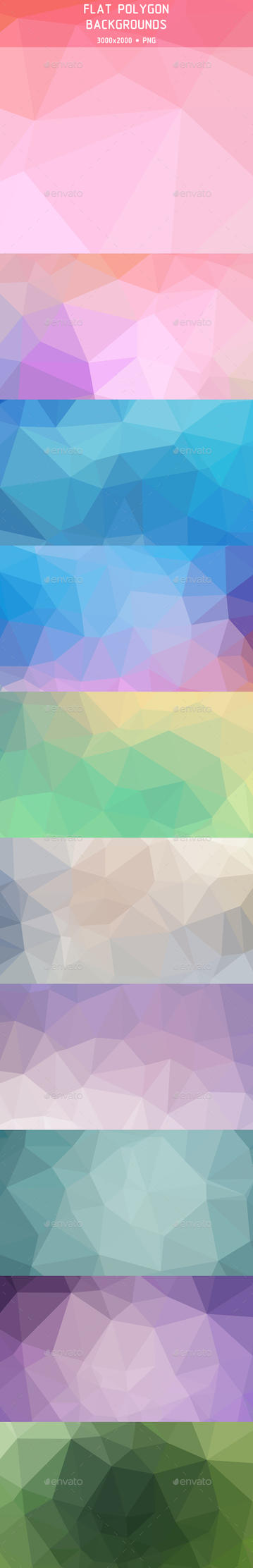Flat Polygon Backgrounds (Preview) by Cooltype-GR