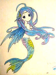 Mermaid (Redraw) by CrimsonDeathAngel13