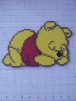 Sleeping Winnie The Pooh Perler by CrimsonDeathAngel13