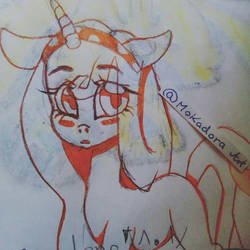 mlp doodle in new style by Mokadora