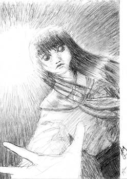 Hanako-san page 95 sketch
