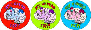My Undead Pony Button Designs