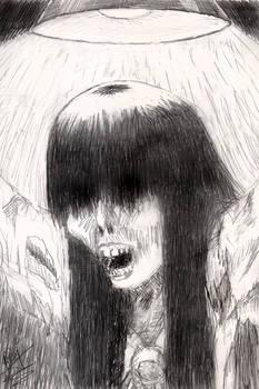 Hanako-san with overhead light