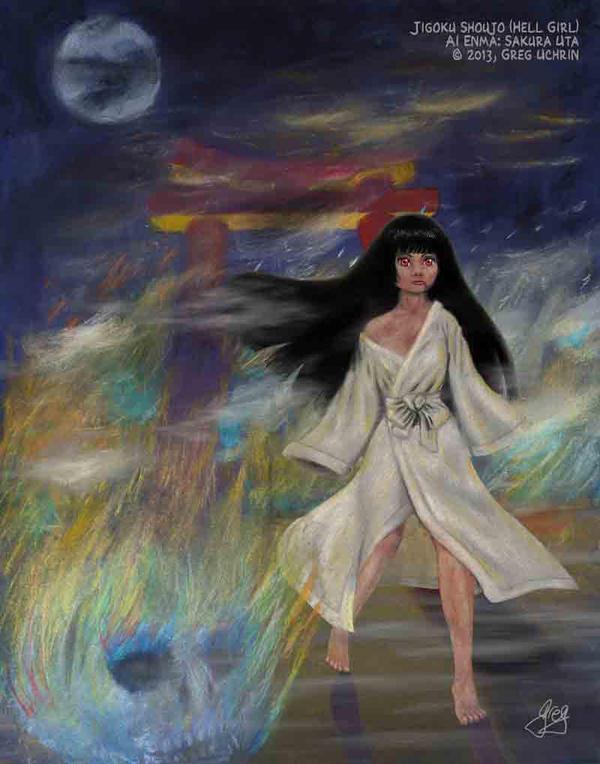 Hell Girl: Ai Enma: Sakura Uta by GregoriusU