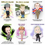 Sherlock Chibi Character cards