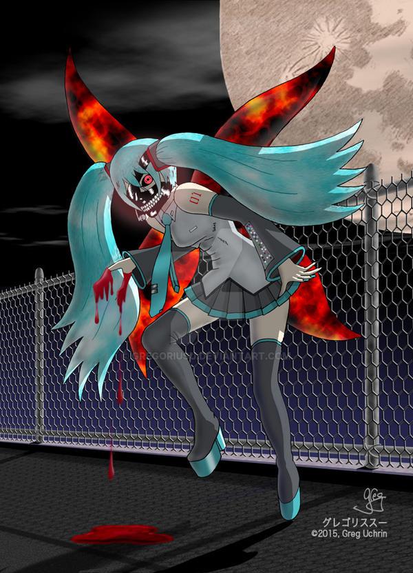 Hatsune Miku/Tokyo Ghoul Mashup by GregoriusU