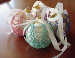Ostara Covered Ball Ornaments by ArielManx
