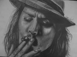 Johnny Depp by D43W1N