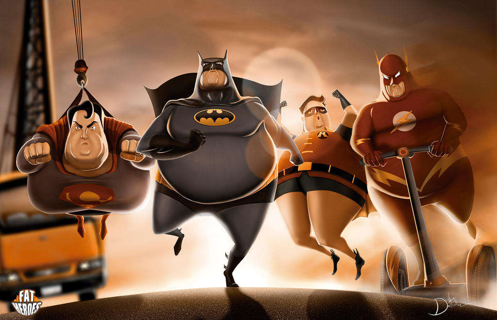 fat_heroes__dc__by_carlosdattoliart-d8fn