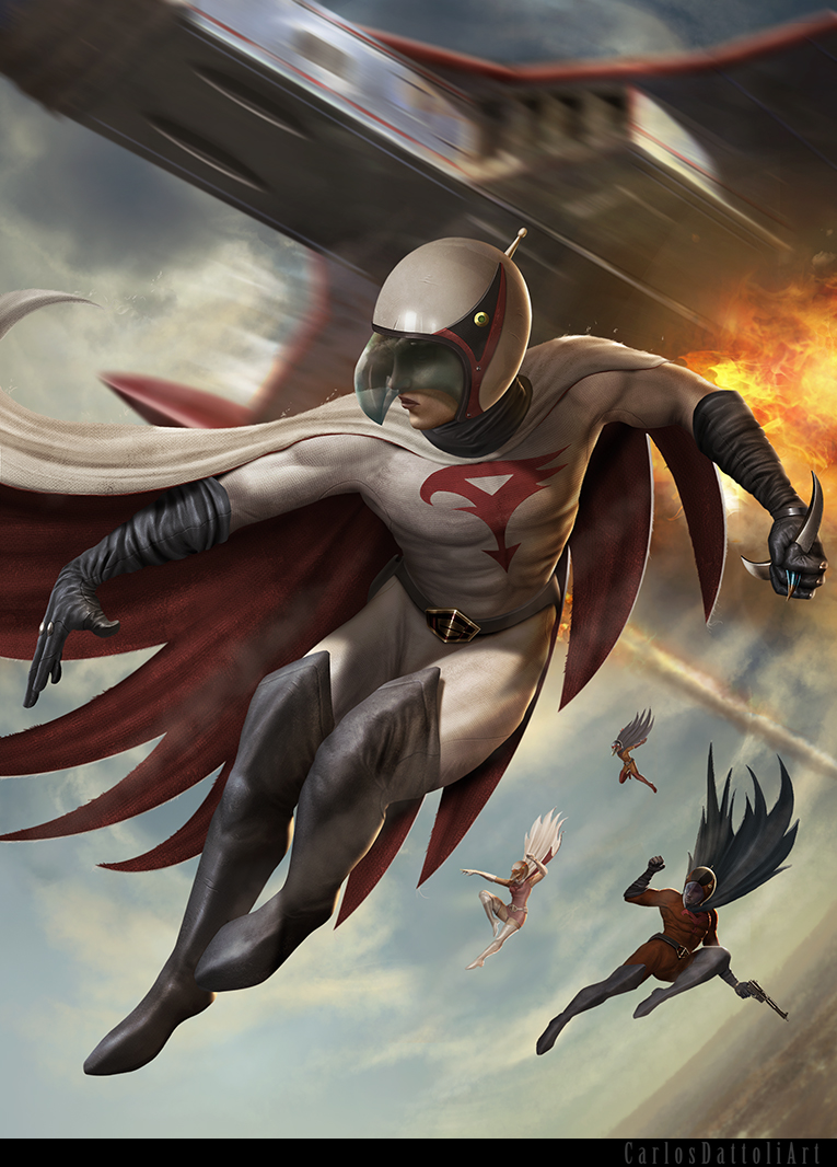 G Force Anime Characters : Gatchaman by carlosdattoliart on deviantart
