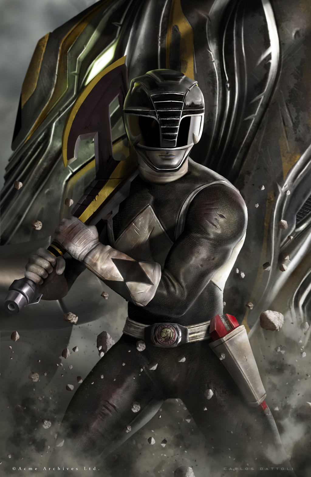 Black Ranger by CarlosDattoliArt