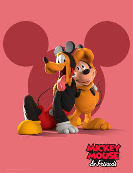 Mickey and Friends Costume Party(Mickey and Pluto)