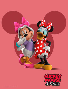Mickey and Friends Costume Party(Minnie and Daisy)