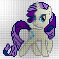 Rarity Sprite by Bobbeyjazz