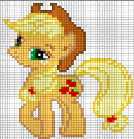 Applejack Sprite by Bobbeyjazz