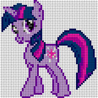 Twilight Sparkle Sprite by Bobbeyjazz