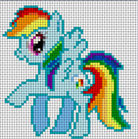Rainbow Dash Sprite by Bobbeyjazz