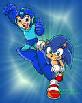 Mega Man and Sonic