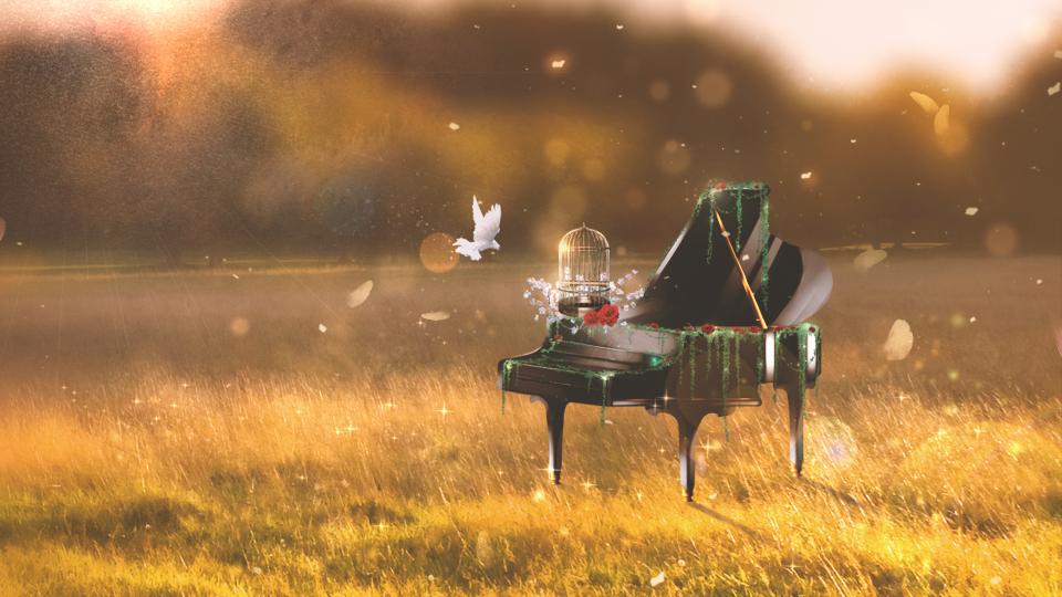Piano On Field