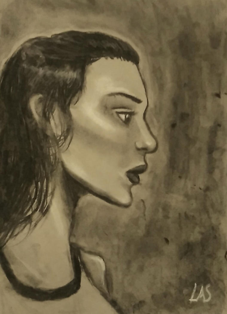 Charcoal drawing by Lucaarianne
