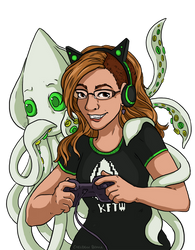 Commission - Kat and Squiddy by Alerane