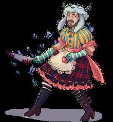 Commission - Kravin in Wonderland by Alerane
