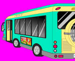 Bus with MS Paint artwork