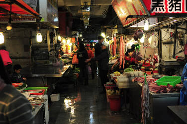 Wet Market in Keelung City