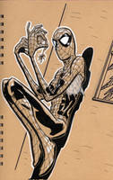 spidey on the wall by BrentMcKee