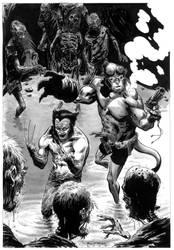hellboy and wolverine by BrentMcKee