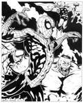 spidey hulk thor inks