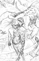 Dark Wolverine rough pencils by BrentMcKee