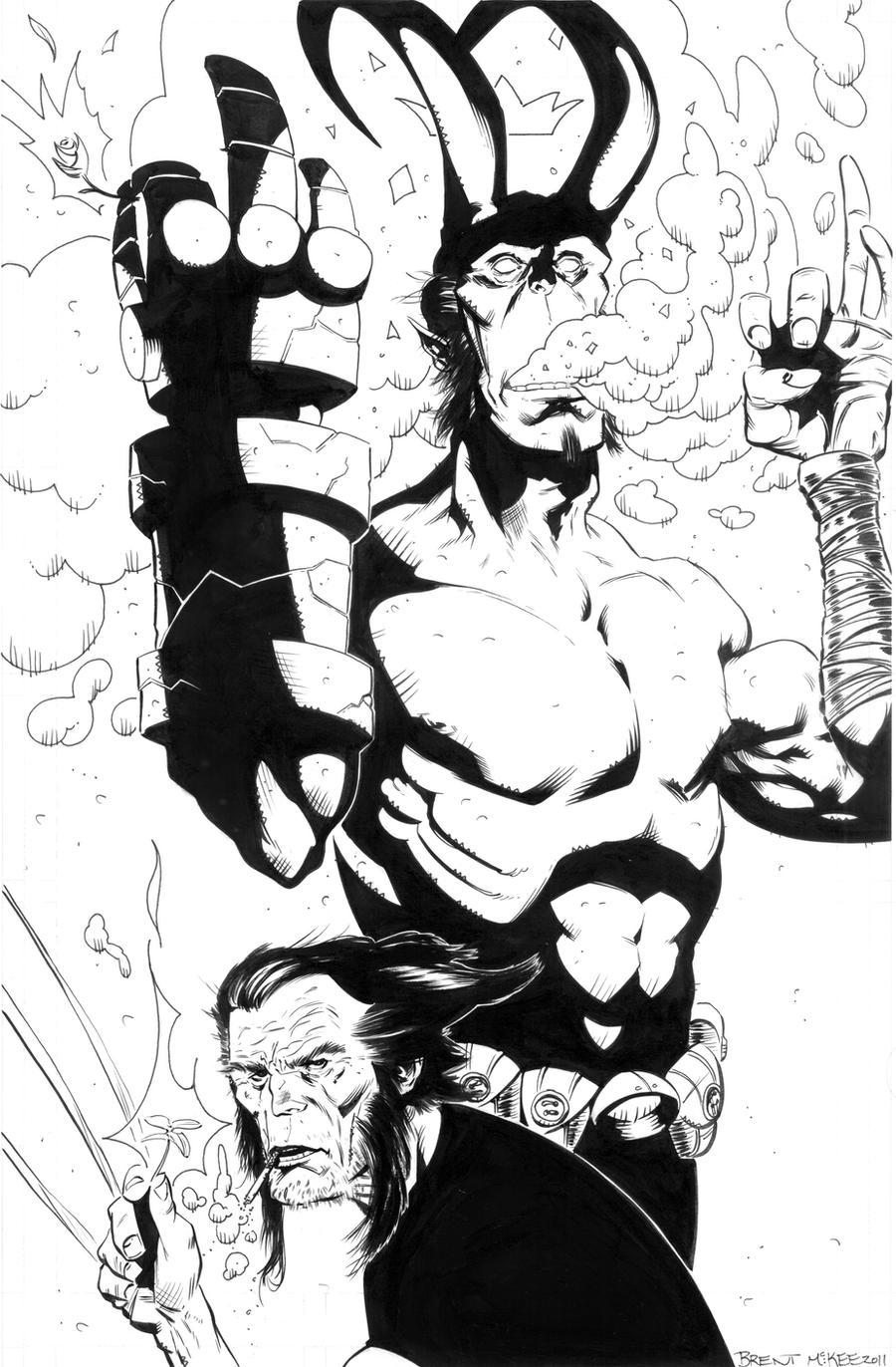 hellboy logan 4 inks by BrentMcKee