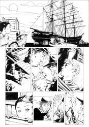one of my Outlaw Territory volume 3  pages by BrentMcKee