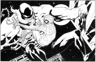 Spiderman vs. Venom by BrentMcKee