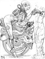Space Lady Sketch by BrentMcKee