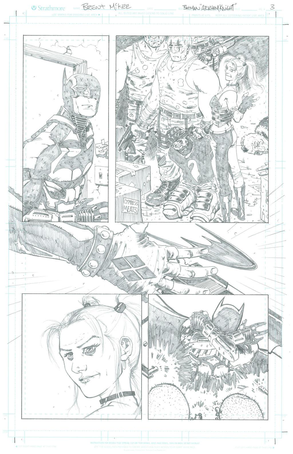 Batman Arkham Knight pg 3 sample by BrentMcKee