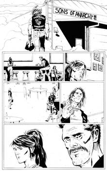sons of anarchy comic page