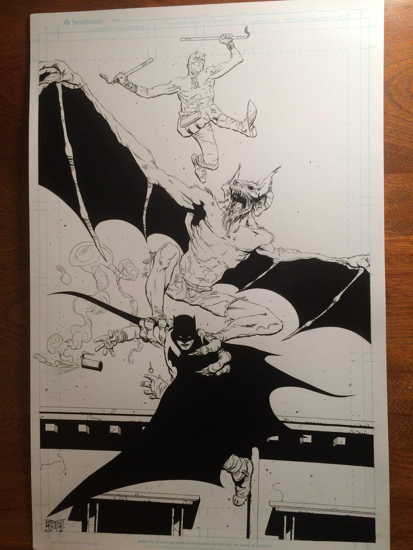 Daredevil Batman and manbat by BrentMcKee