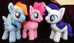 Rainbow Dash, Pinkie Pie, and Rarity fillies!