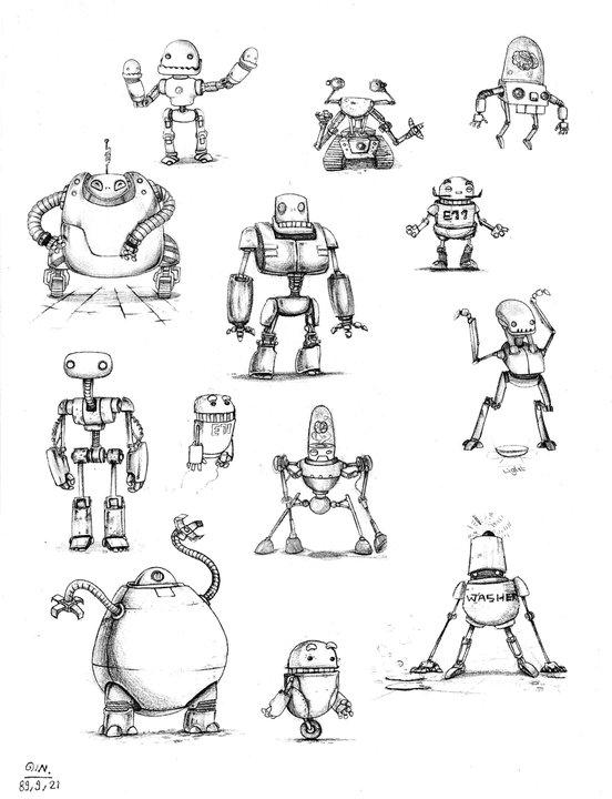 Robot Sketch By Darkzside On DeviantArt