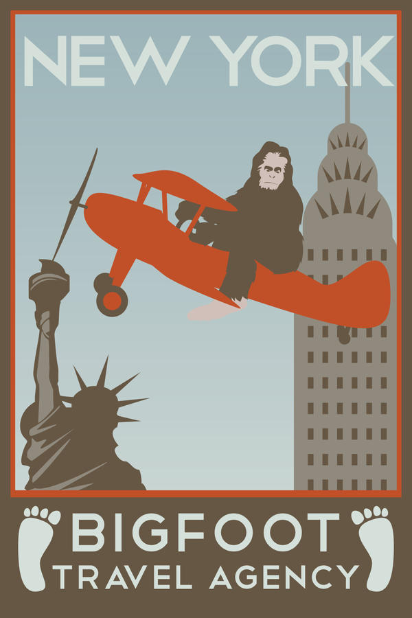 Bigfoot Travels: New York by Tabbathehutt